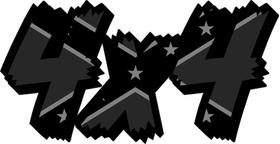 Z 4x4 Confederate Flag Decal / Sticker 44