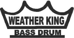 Weather King Bass Drum Decal / Sticker