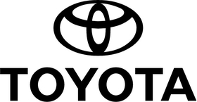 Toyota Lettering and Logo Decal / Sticker 04