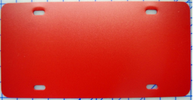 zz Plastic Red Blank License Plate