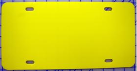 zz Plastic Yellow Blank License Plate