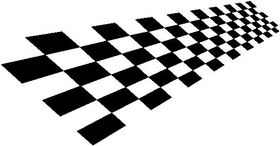 Checkered Flag Decal / Sticker 28