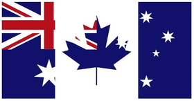 Australian Canadian Flag Decal / Sticker 06