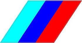 BMW M Stripes Decal / Sticker