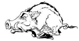 Razorback Mascot Decal / Sticker