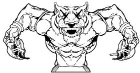 Tigers Football Mascot Decal / Sticker 15
