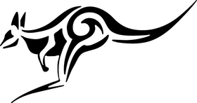 Kangaroo Tribal Decal / Sticker 01