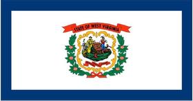 West Virginia State Flag Decal / Sticker 01