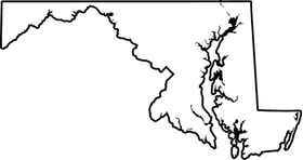 Maryland Outline Decal / Sticker 03