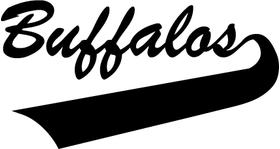 Buffalos Mascot Decal / Sticker