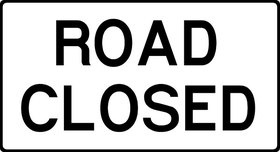 Road Closed Decal / Sticker 01