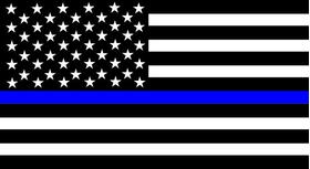 Thin Blue Line American Flag Decal / Sticker 99