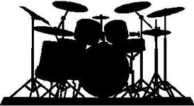 Drums Set Decal / Sticker