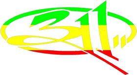 Rastafarian 311 Band Decal / Sticker