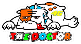 Valentino Rossi The Doctor Decal / Sticker 01