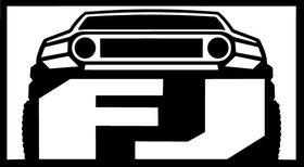 Toyota FJ Cruiser Decal / Sticker 01