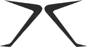 Fender Scoops (set of 2) Decal / Sticker