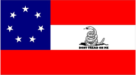 Stars and Bars Confederate Flag Decal / Sticker 49
