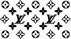 Louis Vuitton Pattern Decal / Sticker 06