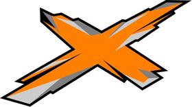 Orange Can-Am X Decal / Sticker 35