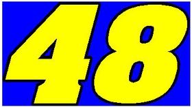 48 Race Number 2 Color Aardvark Font Decal / Sticker