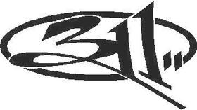 311 Band Decal / Sticker