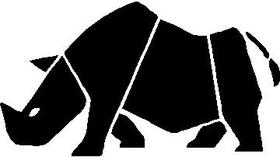 Rhino Decal / Sticker 03