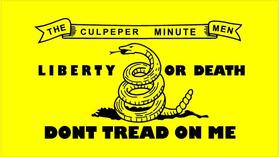 Culpeper Minutemen Flag Don't Tread on Me Decal / Sticker 03