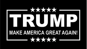 TRUMP Flag Decal / Sticker 03