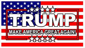 TRUMP American Flag Decal / Sticker 05