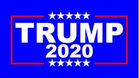 TRUMP 2020 Flag Decal / Sticker 10