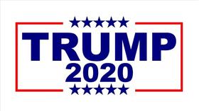 TRUMP 2020 Flag Decal / Sticker 15