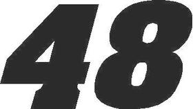 48 Race Number Aardvark Font Decal / Sticker