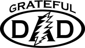Grateful Dad Decal / Sticker 06