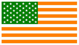 American Irish Flag Decal / Sticker 03