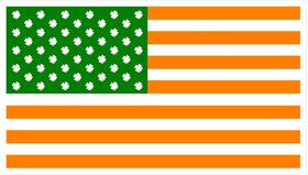 American Irish Flag Decal / Sticker 04