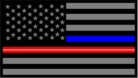 Thin Blue/Red Line American Flag Decal / Sticker 121