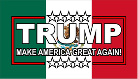 TRUMP Mexian Flag Decal / Sticker 08