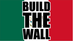Build The Wall Mexican Flag Decal / Sticker 08