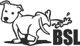 Z1 Pee On BSL dog 04 Decal / Sticker