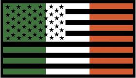 American Irish Flag Decal / Sticker 01