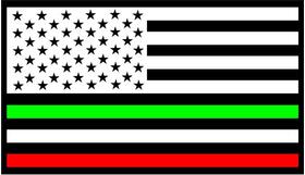 American Italian Flag Decal / Sticker 01