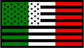 American Italian Flag Decal / Sticker 02