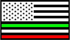 American Mexican Flag Decal / Sticker 01