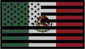 American Mexican Flag Decal / Sticker 02