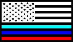 BMW M American Flag Decal / Sticker 01