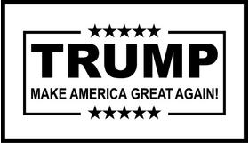 TRUMP Flag Decal / Sticker 04