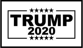 TRUMP 2020 Flag Decal / Sticker 16