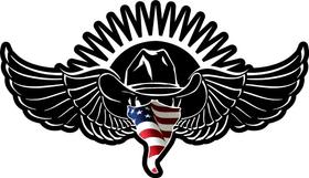 American Flag Bandana VOLBEAT Decal / Sticker 14