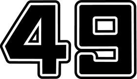 Six Pack Movie Car 49 Decal / Sticker 05